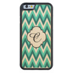 Turquoise and Teal Chevron Pattern Iphone 6 Case Maple iPhone 6 Bumper Case