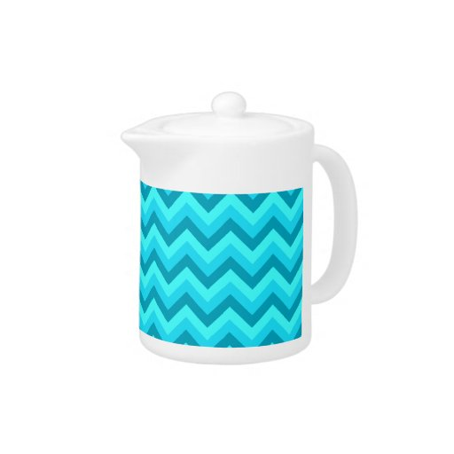 Turquoise and Teal Zigzag Pattern.