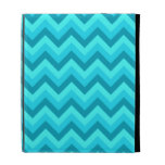 Turquoise and Teal Zigzag Pattern. iPad Folio Cover