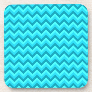 Turquoise and Teal Zigzag Pattern. Drink Coaster