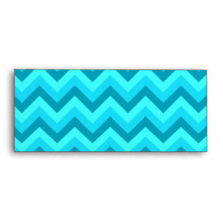 Turquoise and Teal Zigzag Pattern. Envelope