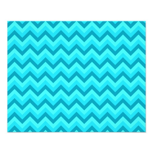 """Turquoise and Teal Zigzag Pattern. 4.5"""" X 5.6"""" Flyer"""