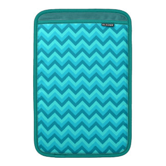 Turquoise and Teal Zigzag Pattern. MacBook Air Sleeves