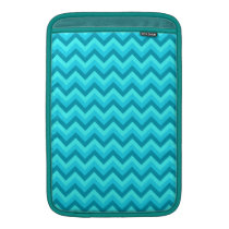 Turquoise and Teal Zigzag Pattern. MacBook Sleeve