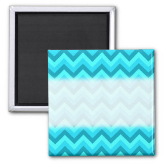 Turquoise and Teal Zigzag Pattern. Magnet