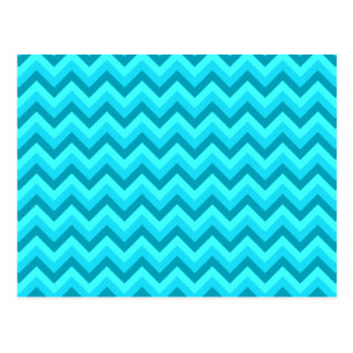 Turquoise and Teal Zigzag Pattern. Postcard