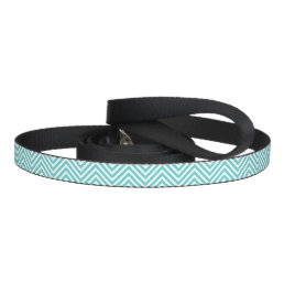 Turquoise and White Chevron Pet Leash
