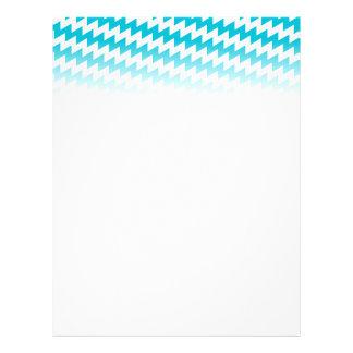 Turquoise and white diagonal chevron flyer