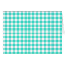 Turquoise and White Gingham Checks Pattern