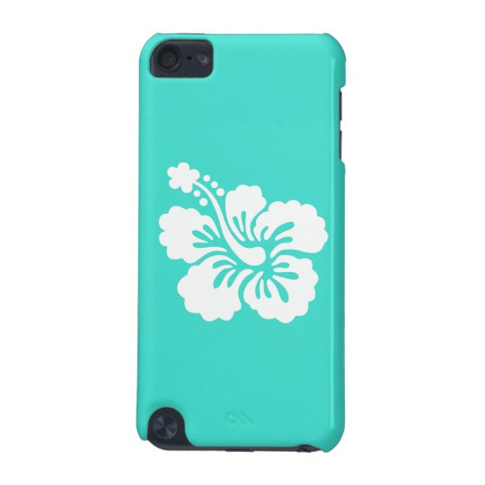 Turquoise and White Hibiscus iPod Touch 5G Case