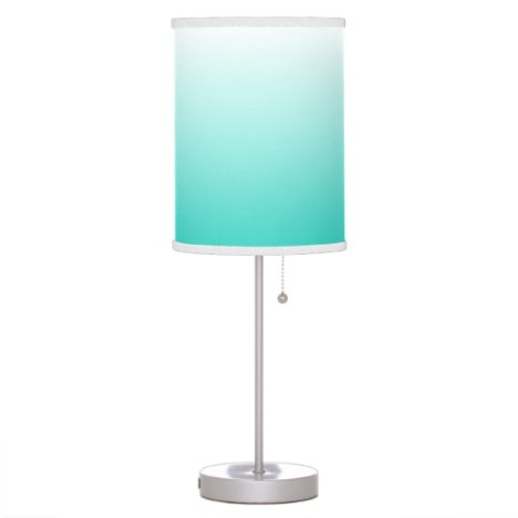 Turquoise and White Ombre Table Lamp