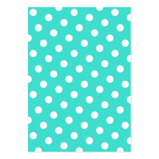 Turquoise and White Polka Dots Large Business Cards (Pack Of 100)