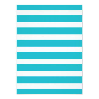 Turquoise and White Stripe Nautical Summer 5.5x7.5 Paper Invitation Card