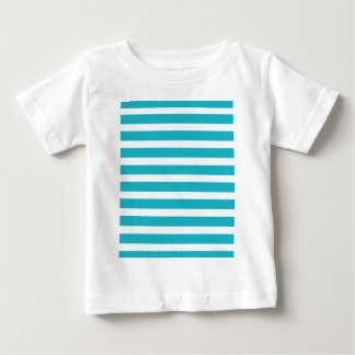 Turquoise and White Stripe Nautical Summer Baby T-Shirt