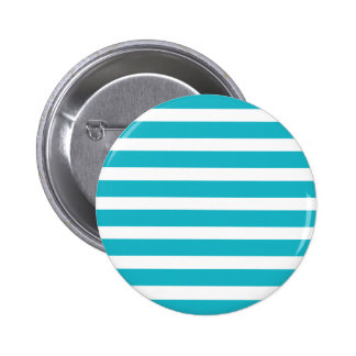 Turquoise and White Stripe Nautical Summer Pinback Button