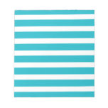 Turquoise and White Stripe Nautical Summer Note Pads