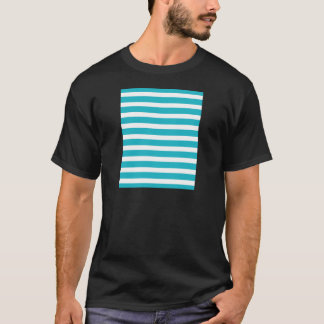 Turquoise and White Stripe Nautical Summer T-Shirt