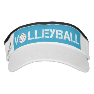 Turquoise and White Volleyball Sport Sun Visor