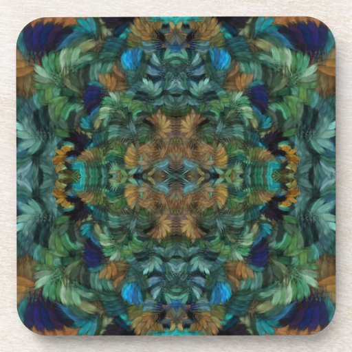 Turquoise and Wood Drink Coaster