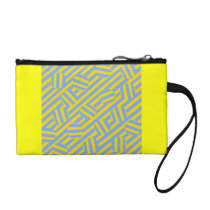 Turquoise and Yellow pattern bags