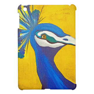 Turquoise and Yellow Peacock Cover For The iPad Mini