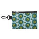 Turquoise and Yellow Retro Mandala Pattern Accessories Bags
