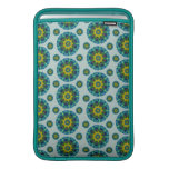 Turquoise and Yellow Retro Mandala Pattern Sleeves For MacBook Air