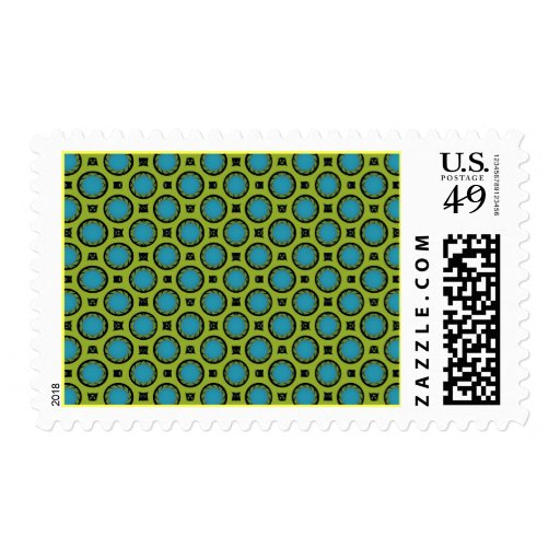 Turquoise and Yellow Stamps