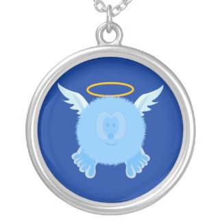 Turquoise Angel Pom Pom Pal Necklace