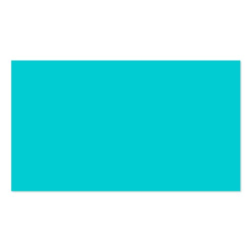 Turquoise Aqua Blue Solid Trend Color Background Business Cards