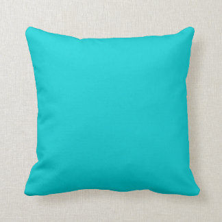 Turquoise Aqua Blue Solid Trend Color Background Pillows