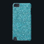 "Turquoise Aqua Faux Glitter iPod Touch 5G Case<br><div class=""desc"">Turquoise Aqua Faux Glitter (not actual glitter)</div>"