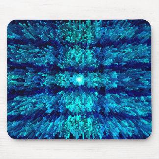 Turquoise Aqua Futurism Modern Textured Pattern Mouse Pad