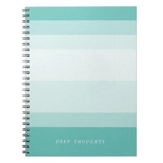 Turquoise Aqua Gradient Colorblock Notebook