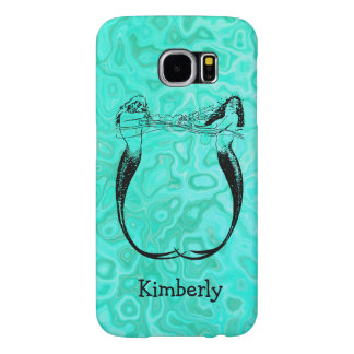 Turquoise Aqua Splash Mermaids Playing Water Samsung Galaxy S6 Case