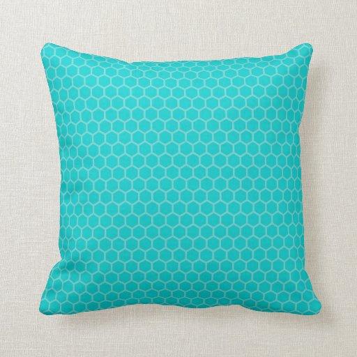Cute Aqua Throw Pillows : Turquoise, Aqua, Teal Geometric Throw Pillow Zazzle