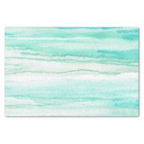 Turquoise Aqua Waves Tissue Paper