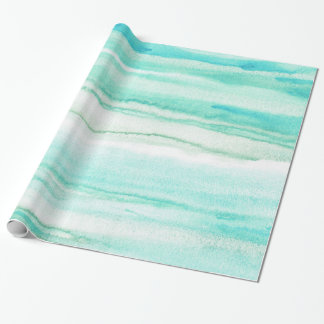 Turquoise Aqua Waves Wrapping Paper