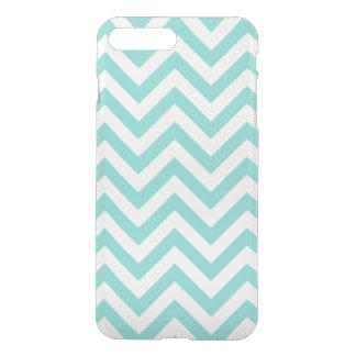 Turquoise Aqua White Large Chevron ZigZag Pattern iPhone 7 Plus Case