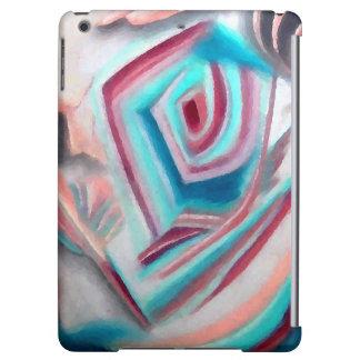 Turquoise Aqua Wine Abstract Modern Art iPad Case