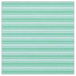 [ Thumbnail: Turquoise & Aquamarine Colored Lines Fabric ]