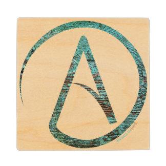 Turquoise Atheist Coaster