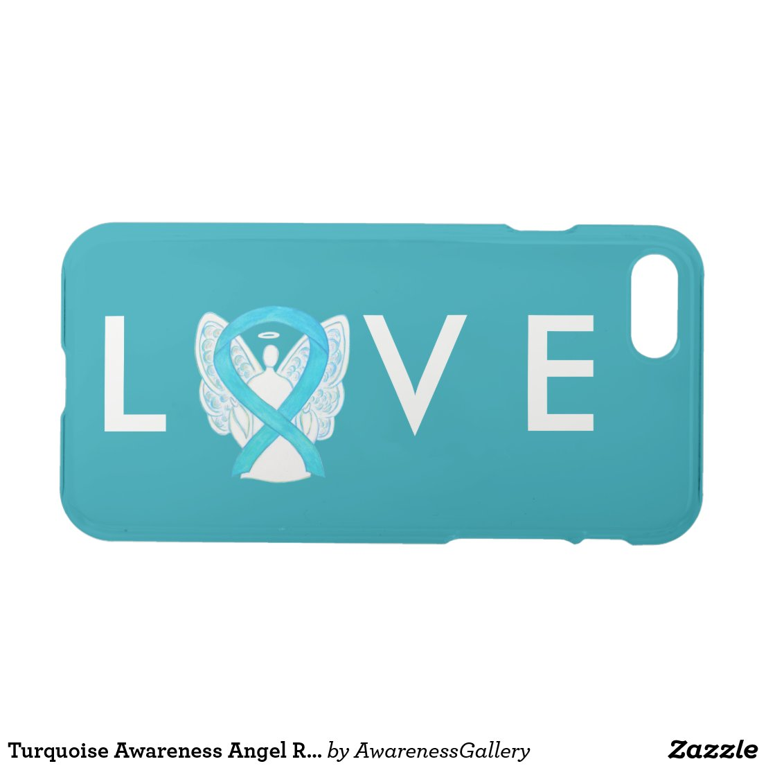 Turquoise Awareness Angel Ribbon iPhone 7 Case