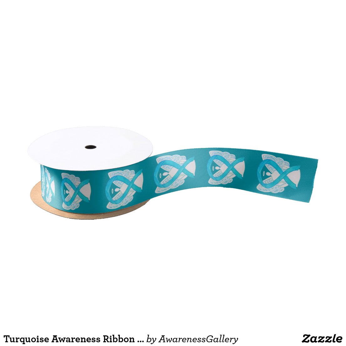Turquoise Awareness Ribbon Angels Custom Design