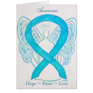 Turquoise Awareness Ribbon Greeting Card
