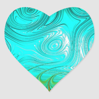 Turquoise Ayes - IMRAN™ Heart Sticker