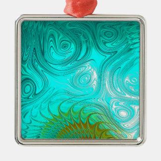 Turquoise Ayes - IMRAN™ Metal Ornament