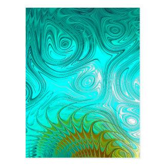 Turquoise Ayes - IMRAN™ Postcard