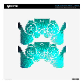 Turquoise Ayes - IMRAN™ Skin For PS3 Controller