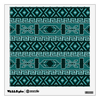Turquoise Aztec Pattern Southwest Room Stickers